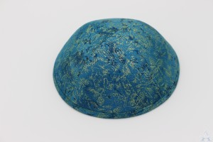 Kippah Teal Brush