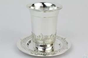 Kiddush Cup & Tray Jerusalem
