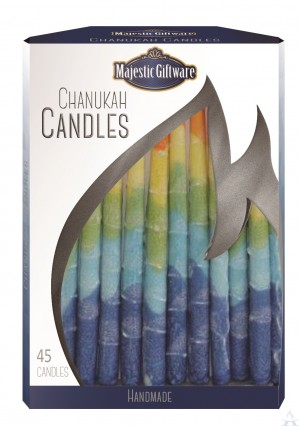 Chanuka Candles Blue/Ylw/Orang