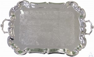 Silver Plated Tray With Handles