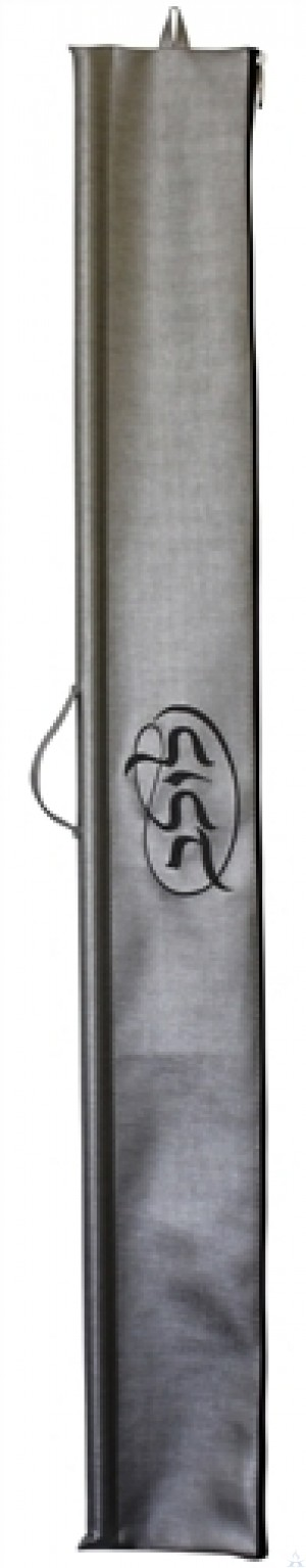 Lulav Holder Vinyl Silver with Grey Embroidery