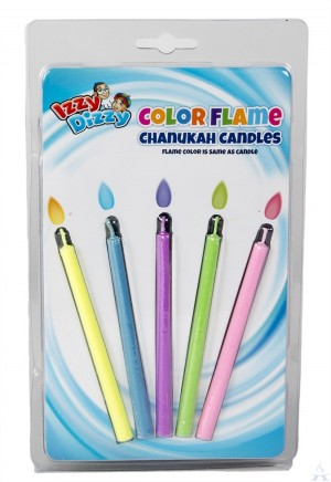 Color Flame Chanukah Candles