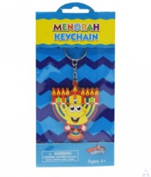 Rubber Keychain Menorah