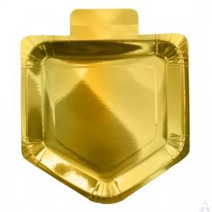 Chanukah Gold Foiled Dreidel Plates
