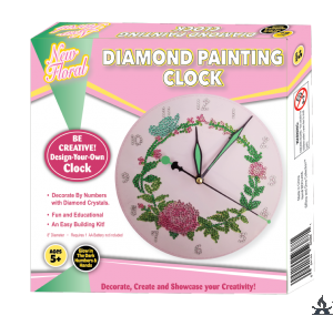 Diamond Painting Clock Floral