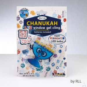 Chanukah LED Gel Cling Menorah