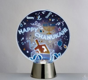 Chanukah LED Light Up Decoration, Dreidel