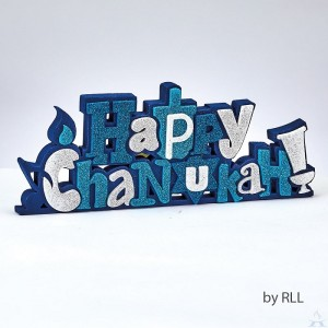 """Happy Chanukah"" Foam Decoration with Glitter Accents"