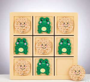 Tic Tac Toad Wood Game