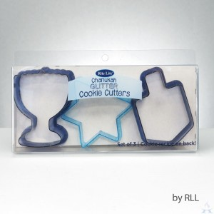 Set of 3 Chanukah Glitter Cookie Cutters