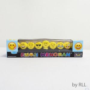"""Menorah """"Emoji"""" - Hand Painted Ceramic"""