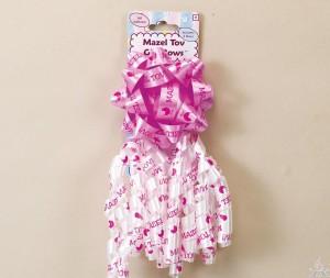 Mazel Tov Baby Girl Decorative Bows