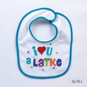 "Chanukah Bib ""I Love You a Latke"""