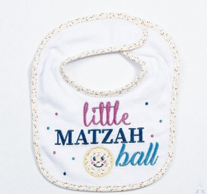 """Little Matzah Ball"" Baby Bib"
