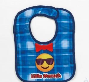 """Little Mensch"" Printed Emoji Bib"