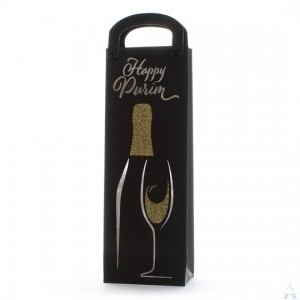 Happy Purim Wine Bag