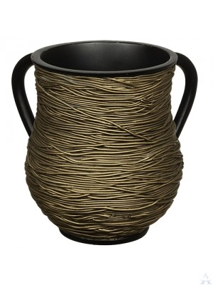 Wash Cup Polyresin Gold String