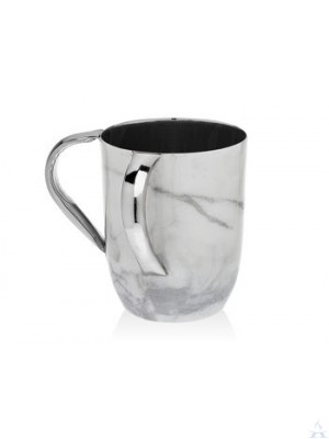 Washcup Stainless Steel Marbled